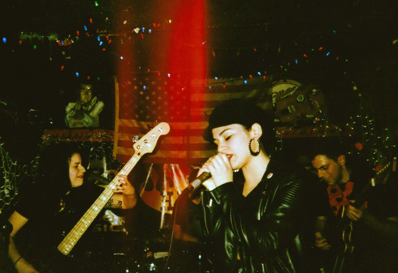 Suzy Exposito (center) performs with her band, Shady Hawkins