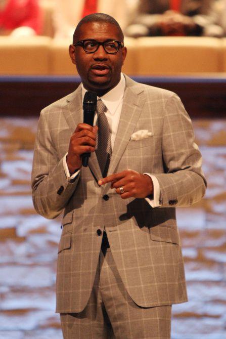 Senior Pastor Bryan Carter of Concord Church in South Dallas.