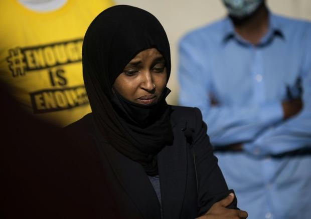 President Donald Trump told Representative Ilhan Omar pictured and three other women of color in ...