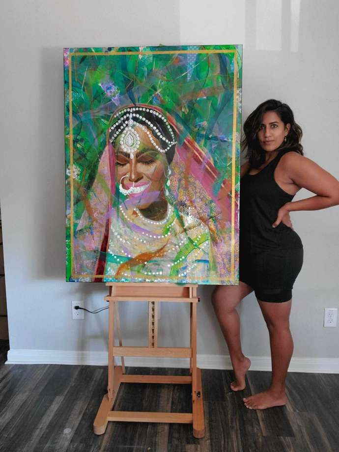 Amy Malkan is a public artist, artrepreneur and community developer. She is best known for her contemporary style infused with Indian and Asian motifs within her murals and art installations.