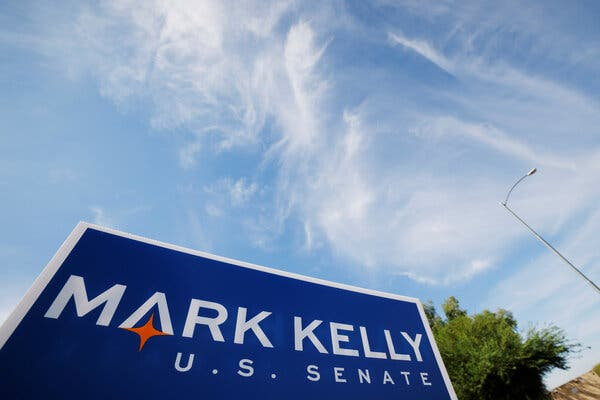 Mark Kelly, the Democratic Senate candidate in Arizona, was among the candidates in his party who announced huge new fund-raising totals over the last three months.