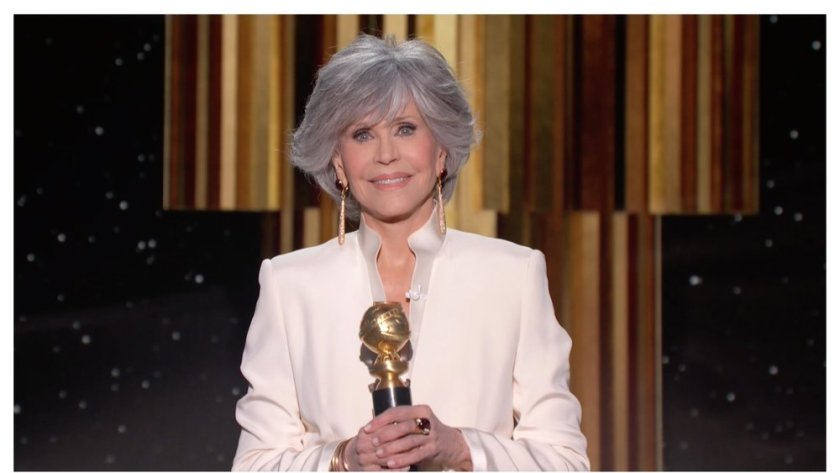 Jane Fonda, winner of the Cecil B. DeMille Award at the 78th Golden Globes.