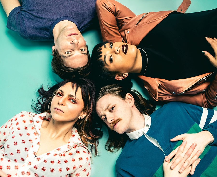 Ganser, clockwise from upper left: Brian Cundiff, Alicia Gaines, Charlie Landsman, and Nadia Garofalo - KIRSTEN MICCOLI