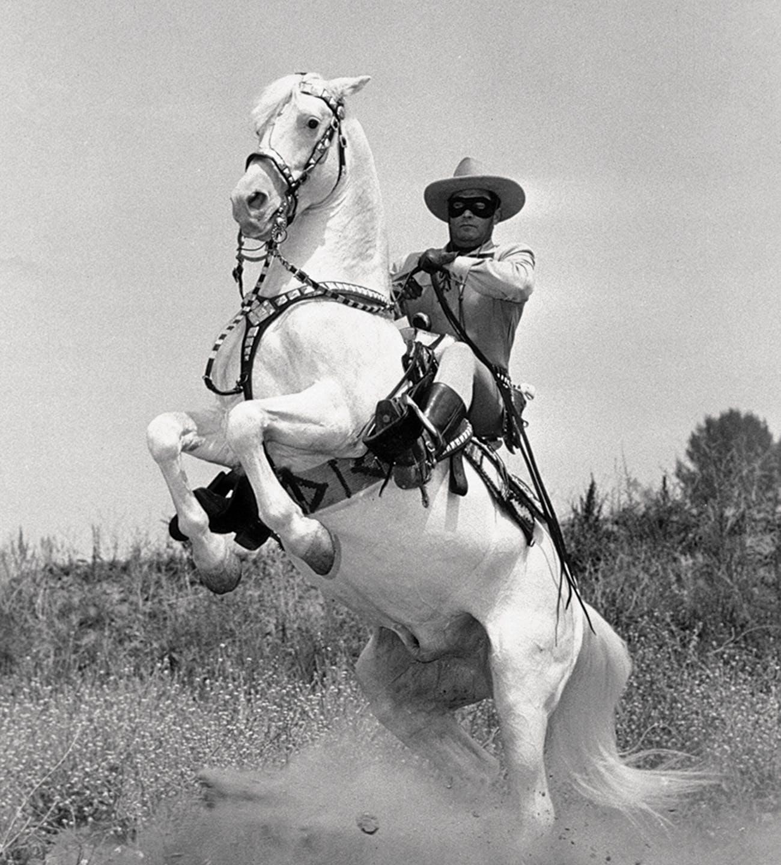 A still from the fifties-era Lone Ranger TV series.