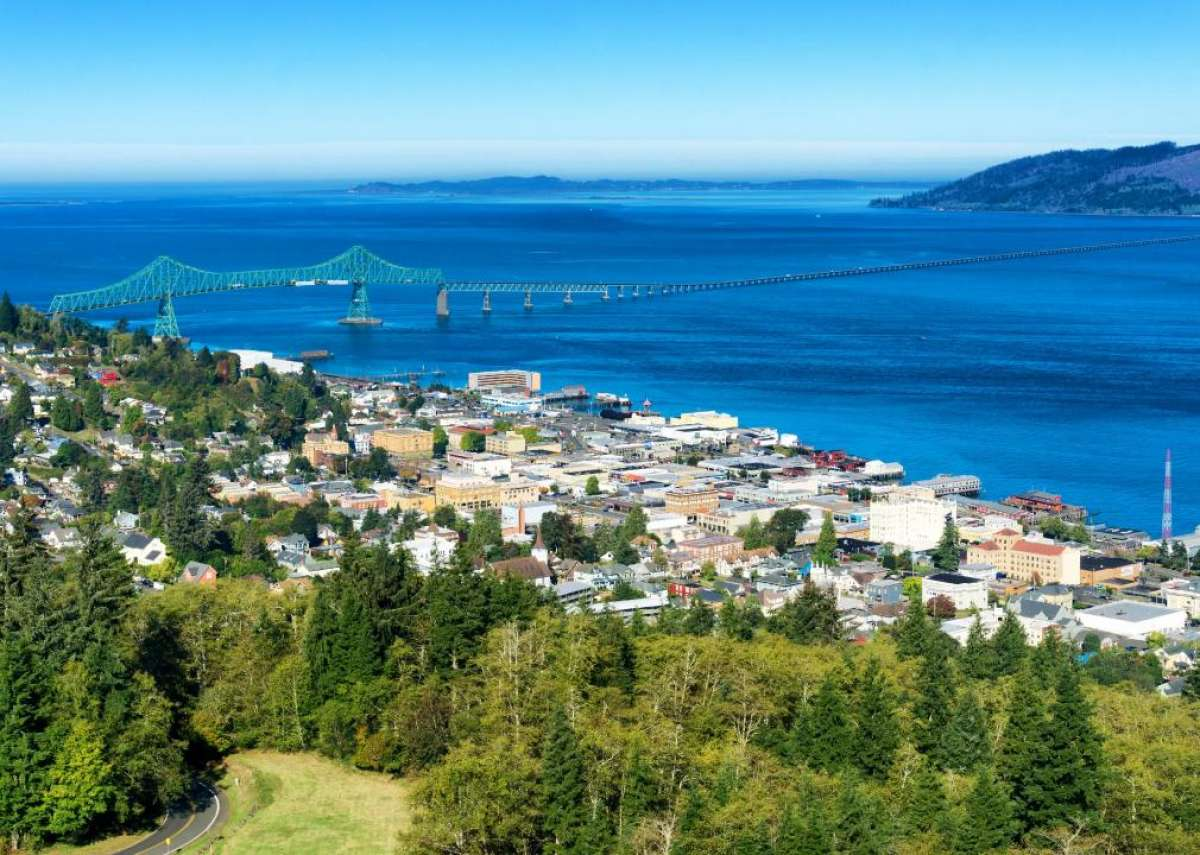 #50. Astoria, Oregon - Low-income job loss due to COVID-19: 9.3% - Total job loss due to COVID-19: 7.7% - Total low-income workers in metro: 12,534 In April 2020, unemployment in Clatsop County, where Astoria is the county seat, peaked at 24.2%. It dropped to 6.1% in November 2020, then rose slightly to 8.1% in February 2021. The Employment Department also noted that smaller cities with less diverse economies like Astoria had higher unemployment rates. Astoria, which is on the coast, is more dependent on tourism than the county as a whole.